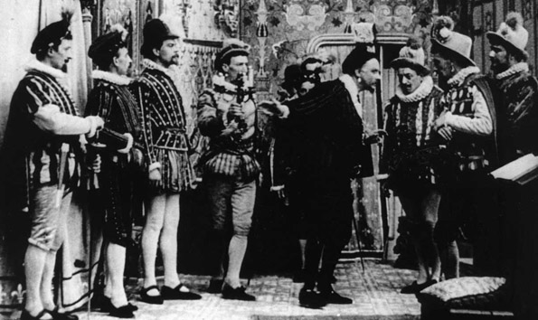 El asesinato del duque de Guisa (L'Assassinat du Duc de Guise, André Calmettes y Charles Le Bargy, 1908)