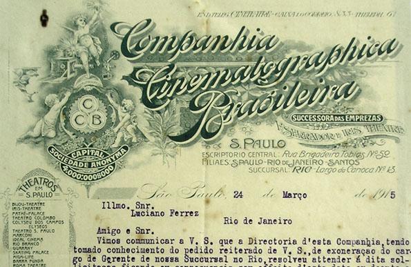 Carta Companhia Cinematográfica Brasileira